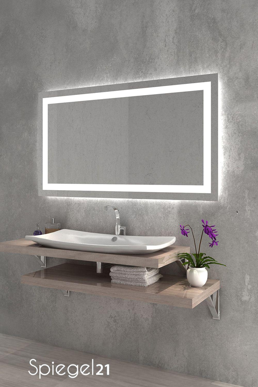 LED Spiegel mit Beleuchtung 'Portau'