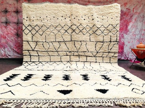 Large Creamy white Authentic Moroccan rug 10×13 area rug moroccan wool vintage authentic beni ourain area rug moroccan design 8×10