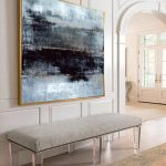 Large Oil Painting Abstract Gray Painting Abstract Painting Black Contemporary Art Original Texture Abstract Painting Living Room Wall Art