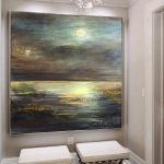 Large Original Abstract Painting Silver Painting Brown Painting Sunset Painting Abstract Oil Painting On Canvas Living Room Wall Art