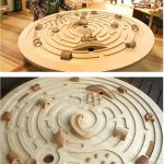 Large Swivelling Wooden Labyrinth by Ginga Kobo Toys, Japan - An immense spacesh...