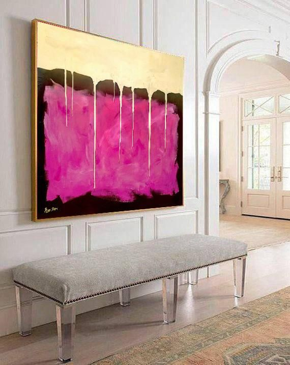 Large Wall Art, Gold Painting, Abstract Painting, Paintings on Canvas, Large Abstract Art, Oil Painting, Modern Art, Pink Painting, Ron Deri