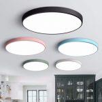 Led-deckenleuchte Moderne Lampe Wohnzimmer Beleuchtung Leuchte Schlafzimmer Küche Oberfläche Montieren Flush-Panel Fernbedienung - https://pickndecor.com/dekor