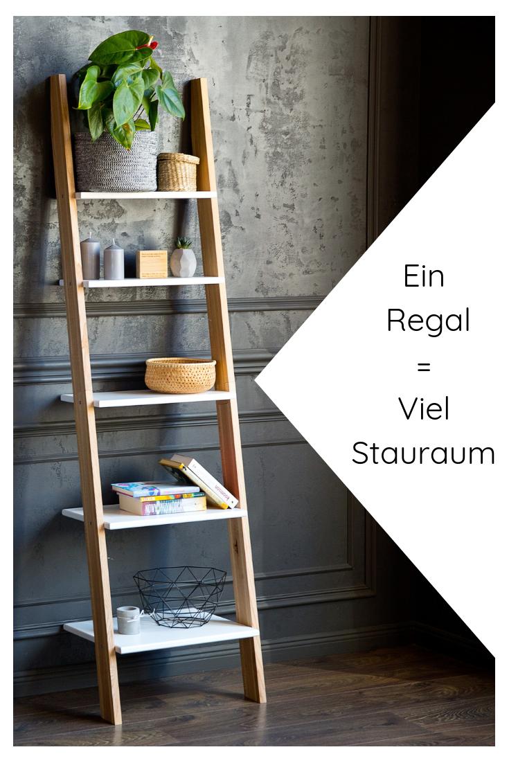 Leiterregal Holz in modernen Farben online kaufen – bingefashion.com/dekor