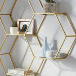 Leonique Wandregal aus Metall Goldene Wohnaccessoires sind ein echter Einrichtun... - Stephanie Bilder