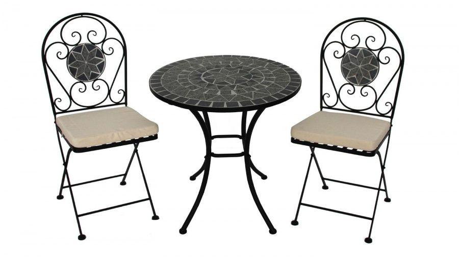 Liebenswert Metallstuhl Schwarz
