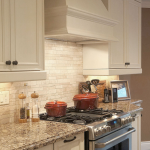 Light ivory Travertine Kitchen Subway Backsplash Tile | Backsplash.com