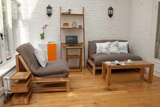 Linear Seater Double Sofa Bed   Futon Company