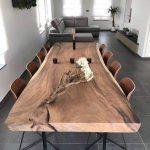 Live Edge Dining Table Reclaimed Single Slab Acacia Wood  100'' Length