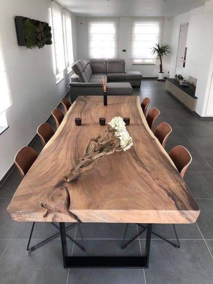 "Live Edge Dining Table Reclaimed Single Slab Acacia Wood  100"" Length"