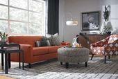 Living room decor orange grey sofas 35 Ideas#BeautyBlog #MakeupOfTheDay #MakeupB…
