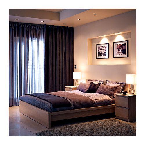 MALM 2-drawer chest – black-brown – IKEA