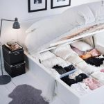 MALM High bed frame/4 storage boxes - white, Lönset - IKEA