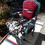 Made to Order** Custom Chimayo and Cowhide Arm Chair