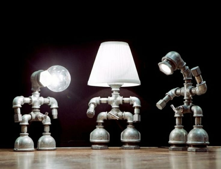 Make cool lamps from water pipes themselves – DIY Crafts