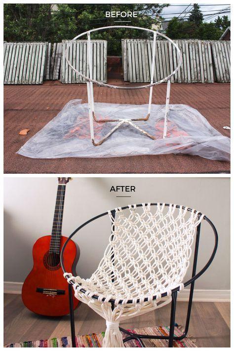 Makrome İpinden Hamak Sandalye Yapılışı – Crochet – Tutorials