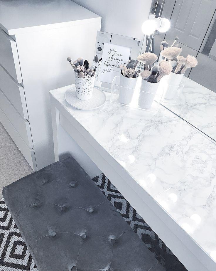 Marmor diy Schminktisch  – Decoration Salon – https://pickndecor.com/dekor