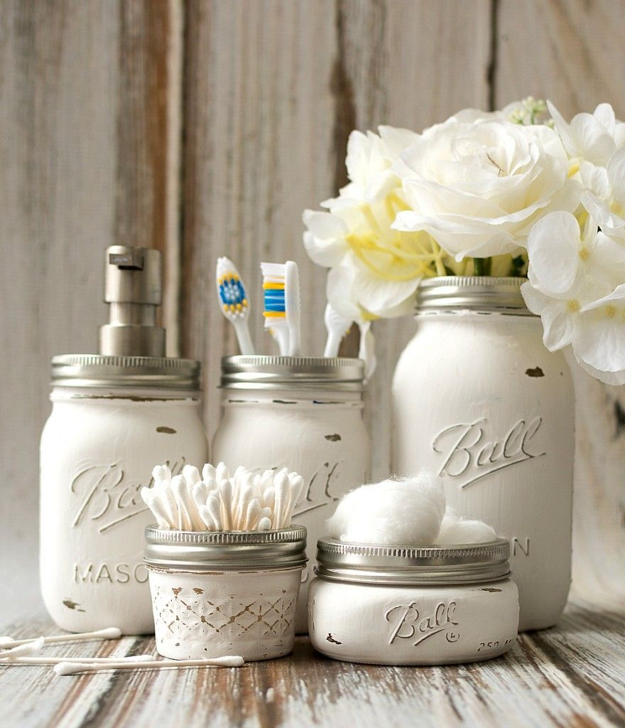 Mason Jar Bathroom Storage & Accessories – Mason Jar Crafts Love