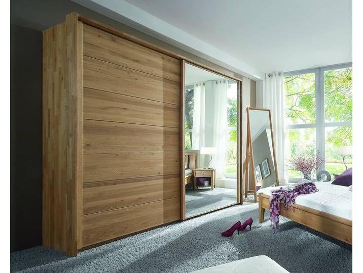 Massivholz Schiebetüren-Kleiderschrank Choice Holz/Holz 300 cm Wildeic