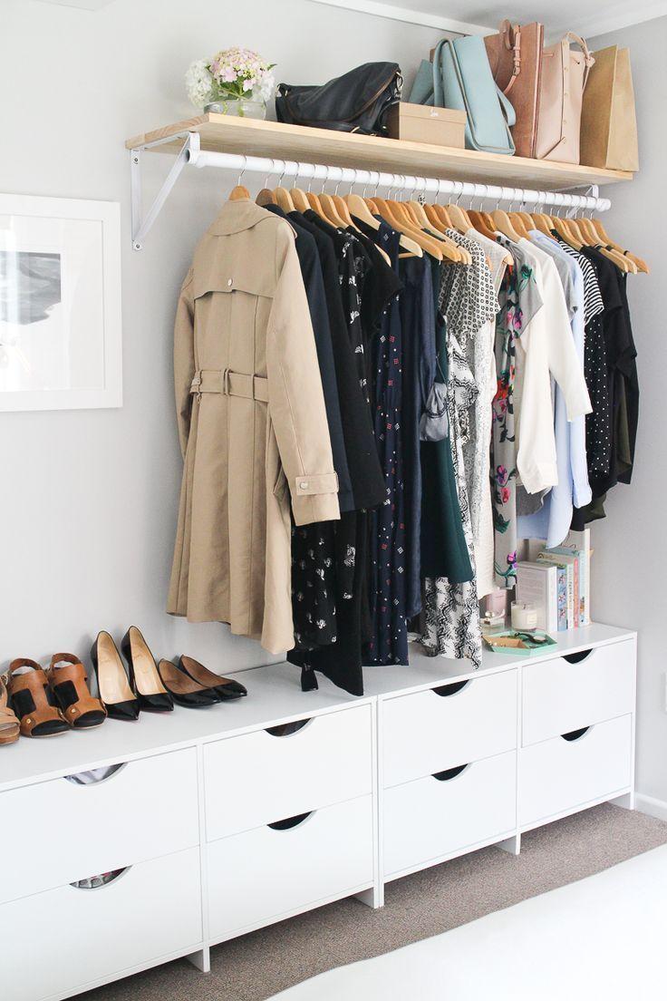 Mein Schlafzimmer und offener Kleiderschrank | Aus Kratzer gemacht , #gemacht #k… – hangiulkeninmali.com/decor