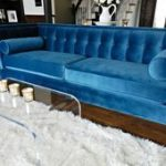 Mein blaugrünes blaues Samt-Sofa   - Glamorous Decor Made Affordable - #Afforda...