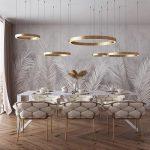 Melania LED Circular Ring Chandelier,  #Chandelier #chandelierdiningroom #Circular #LED #Mela...