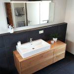 Meuble sous lavabo, en bois, moderne, massif, en chêne, sous meuble, sous plancher … - bingefashion.com/interieur