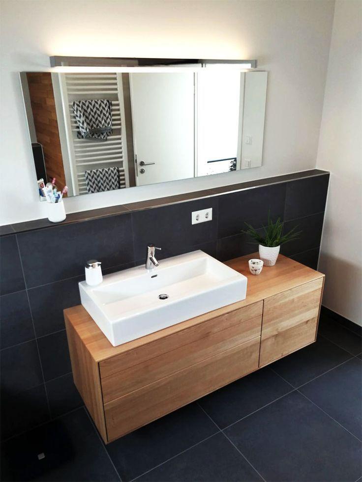 Meuble sous lavabo, en bois, moderne, massif, en chêne, sous meuble, sous plancher … – bingefashion.com/interieur