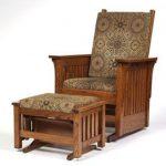 Mission Glider with Ottoman - Walnut Creek Furniture