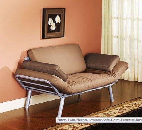 Modern Convertible Futon Sofa Bed Sleeper Living Room Furniture Navy Linen for sale online | eBay