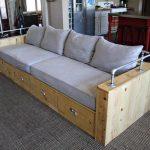 Modern Wood Storage Sofa | Ana White