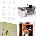 Moderne Büromöbel Dwg #Möbel #modern #Büro - #Büro #Büromöbel #Dwg