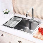Moderne Einbauspüle Edelstahl Moderne Küchenspüle Eckig HM6545L
