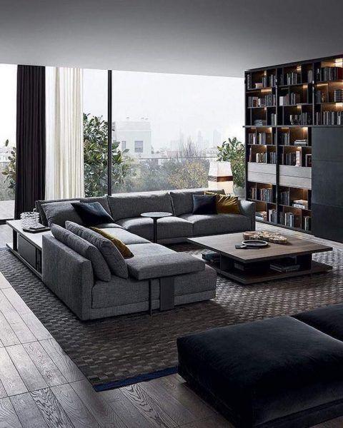 Moderne Wohnzimmer Dekoration Ideen – Farbe, Möbel und Leuchten – Neue Dekor