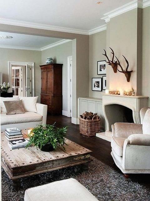 Modernes Land Dekor Wohnzimmer – Landhaus ideen