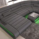 Modular Leather Sofa Concept U Shape