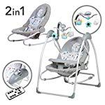 Multifunktional Babywippe 2in1 Elektrische Babyschaukel mit Spielbogen & Melodien