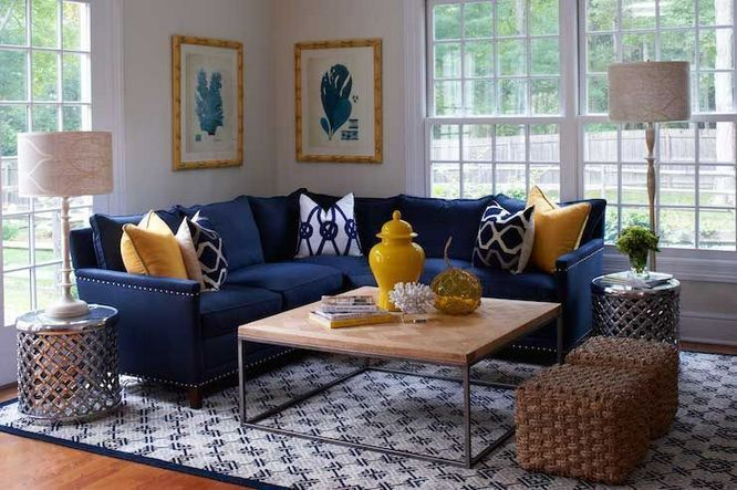 Mustard and blue living room ideas 56 – pickndecor.com/furniture