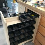 Nail storage without sawdust in the bins - Today Pin