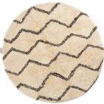 Naima - rund: 200cm Berber Teppich rund, marokkanisch, weiße Wollteppi
