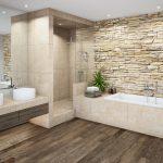 Natürliche Materialien wie Holz und Natursteine, sowie auch warme Farben erzeug...