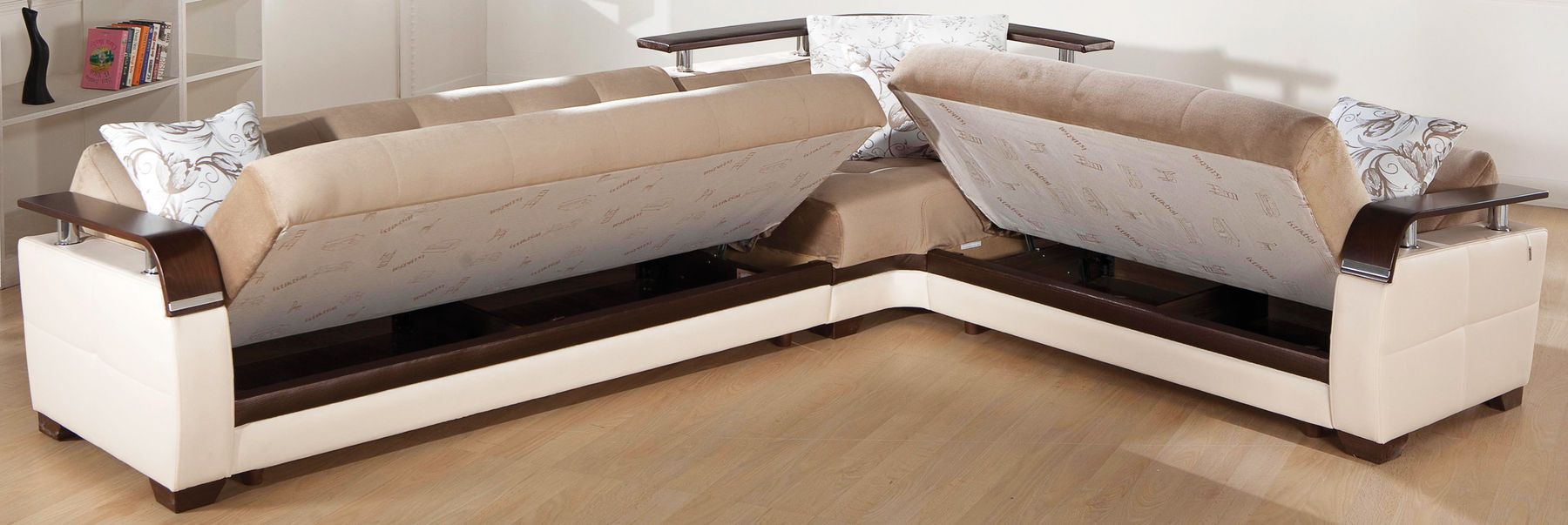 Natural Light Brown Sectional Sofa