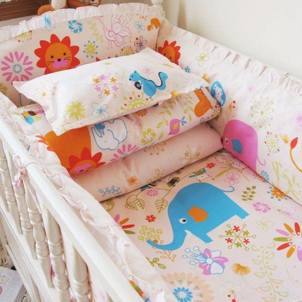 Neue Niedliche Cartoon-kleinkind Baby Bettwäsche-sets Kinder Kinderbett Bettwäsche-sets für Mädchen und Jungen Baumwolle Kinder Kinderbett Bettwäsche-sets – Kinder Bett