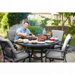 New 2016 Jamie Oliver Grilling 4 Seat Set Riven With Pewter Silver Cushions - (JOGRILL4S)