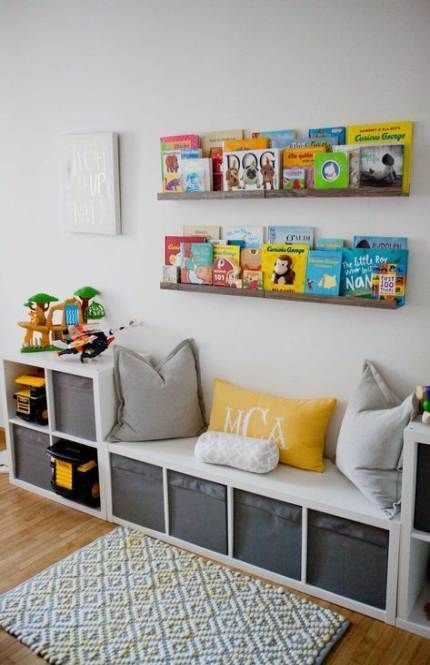 Newest Photo DIY Toy Storage Ideas  Style   An Ikea kids' space continues to f…