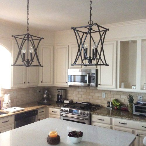 Nisbet 6 – Light Candle Style Square / Rectangle Chandelier