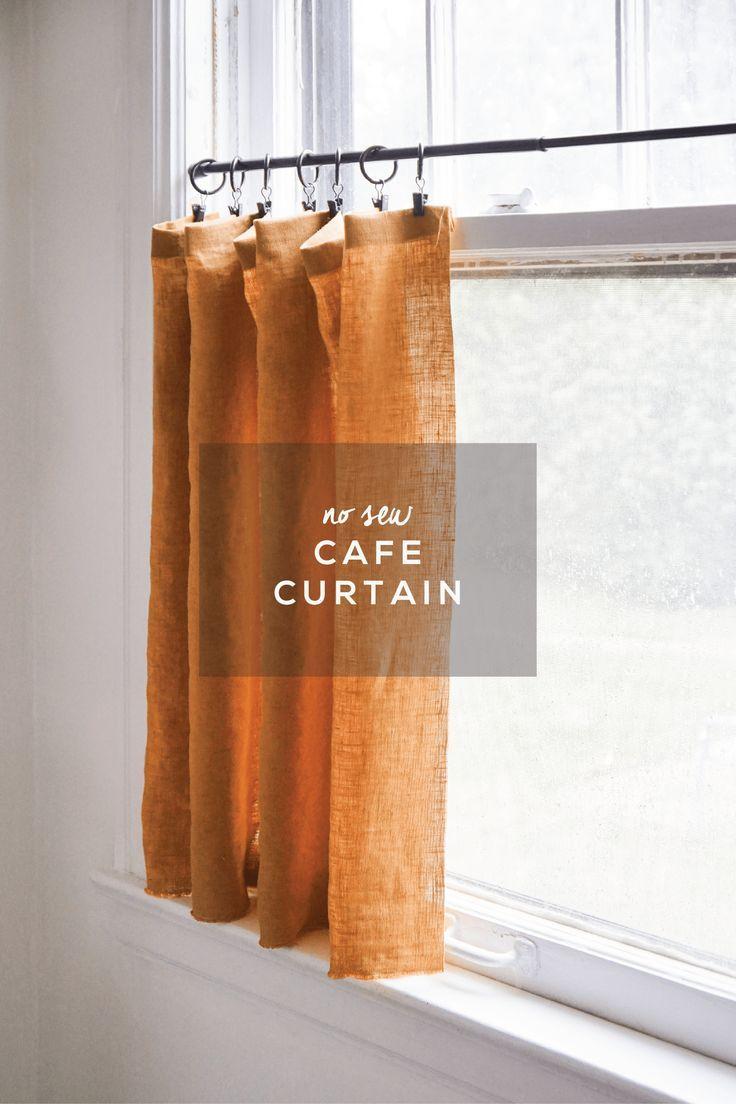 No Sew Cafe Curtain – Francois et Moi