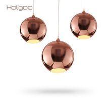 Nordic Globe Glaspendelleuchten Küchenleuchten Silber Gold Kupfer Spiegel … – Hause Dekorationen
