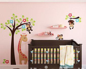 Nursery Wall Decals, Baby Wall Decal, Safari Wall Decal, Children Wall Decals, Kids Wall decals – PLSF010R