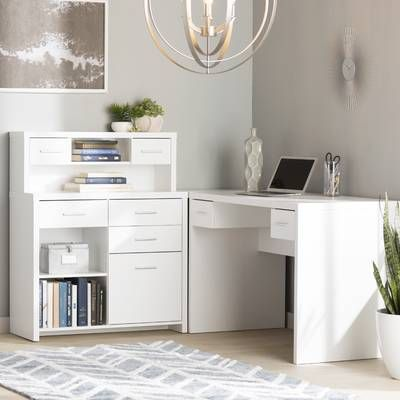 Oakridge L-Shape Executive Desk with Hutch